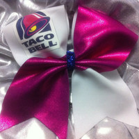 "3"" Cheer Bow- Taco Bell"