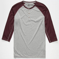 Nike Sb Dri-Fit Mens Henley Grey  In Sizes