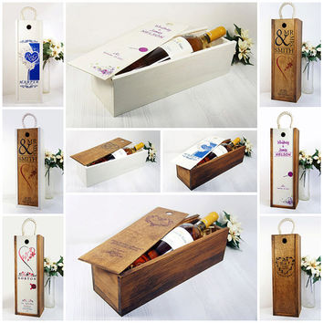 Wedding Wine Box Ceremony Fight Box Personalized Wedding Gift Wine Ceremony Rustic Wedding Wine Capsule Time Capsule Bridal Shower letter