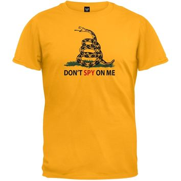 Don't Spy On Me Yellow T-Shirt