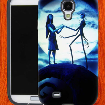Nightmare Before Christmas moon,Accessories,Case,Cell Phone,iPhone 4/4S,iPhone 5/5S/5C,Samsung Galaxy S3,Samsung Galaxy S4,Rubber,28-11-4-Vr