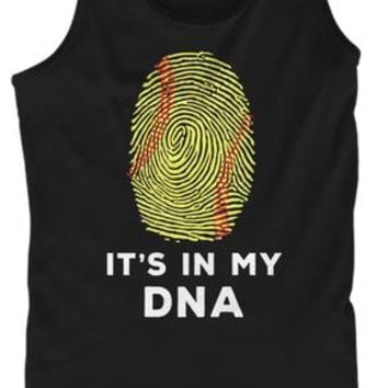 Softball It Is In My DNA Funny Shirt Gif