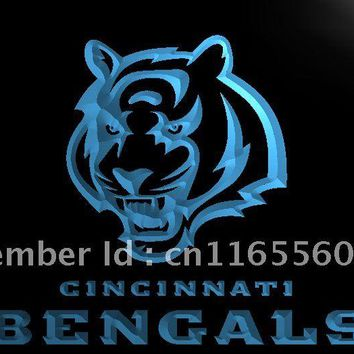 LA125- Cincinnati Bengals Football Bar   LED Neon Light Sign     home decor shop crafts