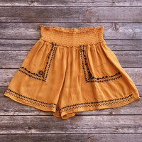 Festival Ready Shorts in Mustard