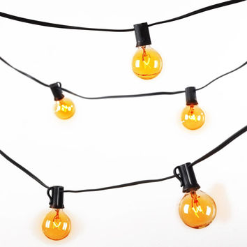 Global String Lights (48ft.-24 sockets w- Amber bulbs)