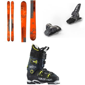 Salomon Rocker2 100 Skis + Marker Griffon Ski Bindings + Salomon Quest Pro 110 Ski Boots