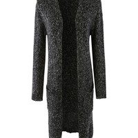 LE3NO Womens Soft Knit Long Sleeve Open Maxi Cardigan