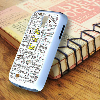 All Time Low Art Music Qoutes Lyric Samsung Galaxy S4 Case
