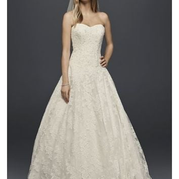 Allover Beaded Ball Gown Wedding Dress | David's Bridal