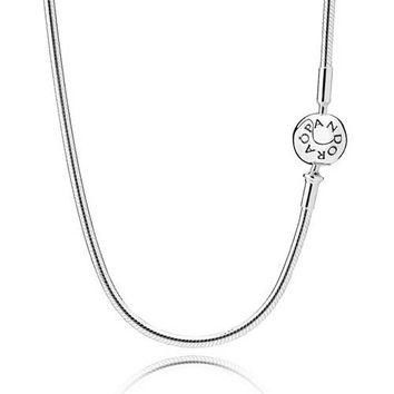 Authentic Pandora Jewelry - PANDORA ESSENCE Sterling Silver Necklace (For ESSENCE Char