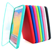 TPU Wrap Up Case Cover w/Built in Screen Protector for Samsung Galaxy Note III 3