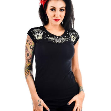 Dame Embroidered Top by Banjo & Cake/Too Fast Clothing - Patchwork