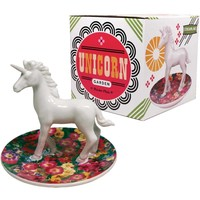 Porcelain Trinket Plate - Unicorn