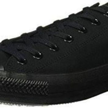 LMFUG7 Converse Unisex Chuck Taylor All Star Low Top Black Monochrome Sneakers - 12 D(M) US