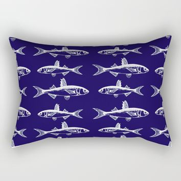 Midnight Fish Rectangular Pillow by The Wallpaper Files