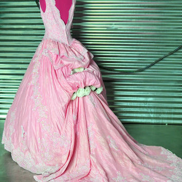 Phantom of the Opera Pink Christine Masquerade WEDDING gown costume Dress