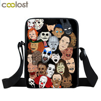 Classic Horror Movie Character Michael Myers / Jason / Freddy Krueger / Chuck Messenger Bag Boys School Bags Kids Crossbody Bag