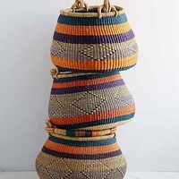House Of Talents Handwoven Basket- Multi One