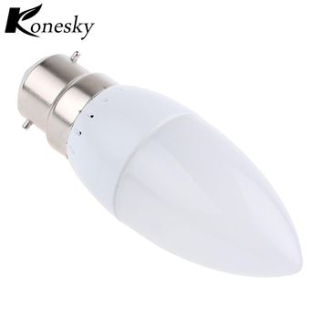 Konesky B22 2835 SMD led candle light bulb lamp Warm/ Cool White Led Spotlight Chandelier led plastic shell