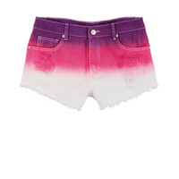 Bradley Mid-Rise Shorts in Pink Ombre - Pink Multi