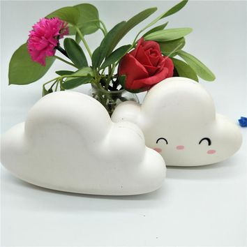 Car Dashboard Ornament Decoration Cute White Clouds Squishy Toys Slow Rising Auto Cars Interior Pendant Car Accessories Styling