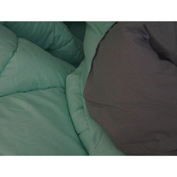 Calm Mint/Gray Reversible College Comforter - Twin XL