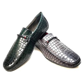 Tayno Embossed Croc Driver Loafers