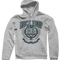 Turquoise Crest Gray Hooded : MerchNOW