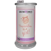 Congrats, It's A Girl ! - Jewelry Greeting Candles