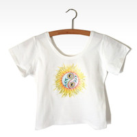 Yin Yang Sunflower Crop Tee from Now and Again Co.