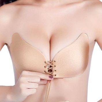 Magic Bras Strapless Invisible Push Up Fly gather bra Self Adhesive Silicone Sticky BH Backless Women Sexy intimates dress