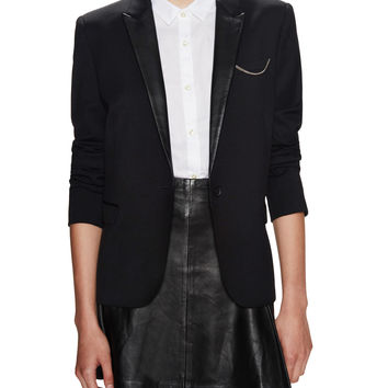 The Kooples Women's Prince of Wales Checked Jacket - Black -