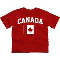 Canada Youth Flag T-Shirt - Red - http://www.shareasale.com/m-pr.cfm?merchantID=7124&userID=1042934&productID=527525476 / Canada