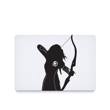 Katniss-----Macbook Decal Macbook Sticker Mac Decal Mac Sticker Decal for Apple Laptop Macbook Pro