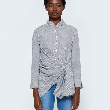Stelen / Gathered Button Down Shirt
