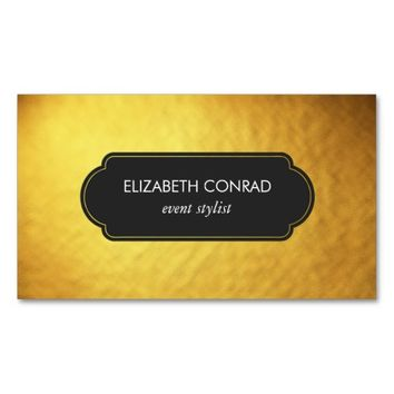 Classy Gold Foil Professional Business Card