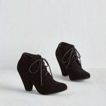 Minimal Just in the Kick of Time Bootie by ModCloth