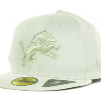 Detroit Lions NFL White Gray Basic 59FIFTY Cap