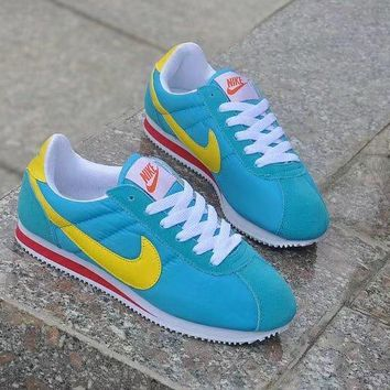 """Nike Cortez"" Unisex Sport Casual Multicolor Cloth Surface Running Shoes Couple Retro Sneakers"