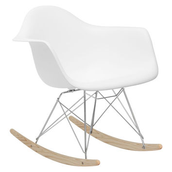 Rocker Lounge Chair in White