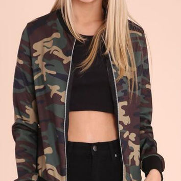 Army Green Camouflage Jacket B0013743