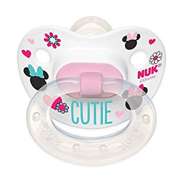NUK Disney Baby Minnie Mouse Puller Pacifier in Assorted Colors and Styles, 0-6 Months