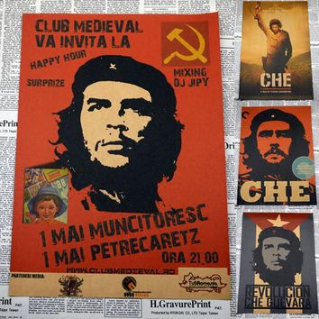 retro Cuba soldiers Che Guevara posters nostalgic vintage decorative painting core kraft paper antique wall sticker 30*21cm