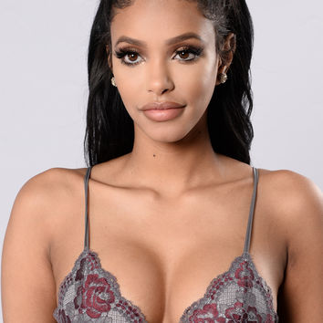 Beautiful Contradiction Bralette - Grey