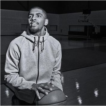 Hot Kyrie Irving Casual Gray Hooded Fashion Solid Cardigan Hooded Basketball Sportwear Coats Loose Cotton Jacket Long Sleeve Hoodies