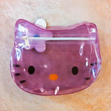 Vintage Sanrio Hello Kitty Change Purse, 90s Hello Kitty Translucent Purse, Girls Change Purse