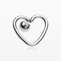 Heart Wire Steel Cartilage Tragus Earring