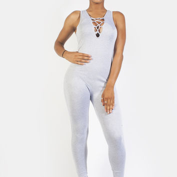 Sleeveless Solid Jumpsuit