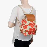 Poppies Canvas Backpack