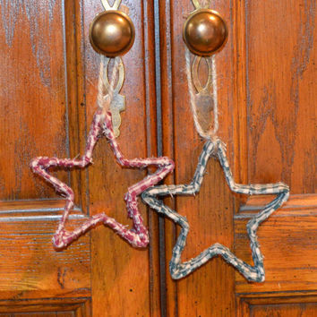 Rustic Star Ornament, Star Ornaments, Primitive Decor, Primitive Christmas, Rustic Decor, Prim Ornies, Christmas Decor, Primitive Star